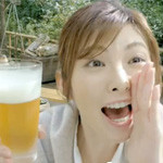 CM「サッポロ プレミアムアルコールフリー(筧利夫 田中麗奈)」の曲「雨にぬれても / 武田カオリ」